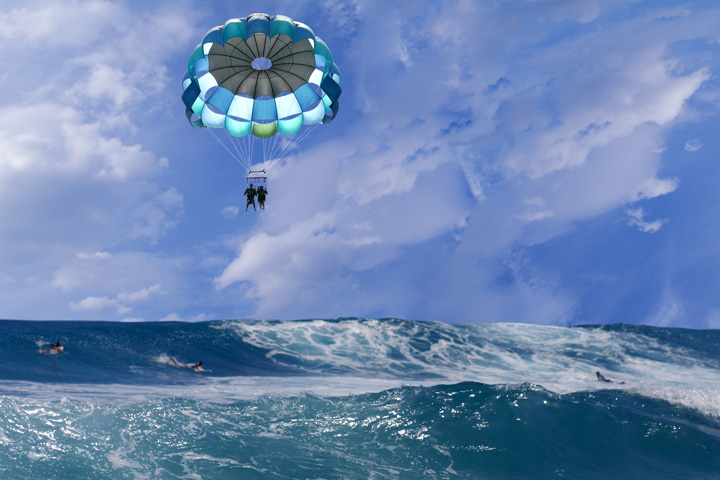 Parasail over Cancun